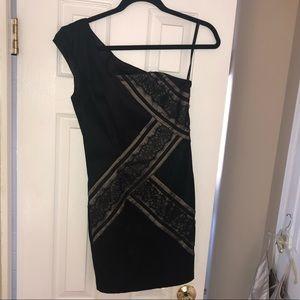 Black, one shoulder dress